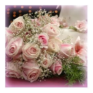 bouquet de fleurs rose pale. Black Bedroom Furniture Sets. Home Design Ideas